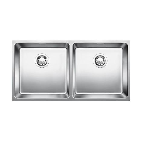 Lavello Cucina 2 Vasche Senza Gocciolatoio.Blanco 1518327 Andano 400 400 If Lavello 87x44 2 Vasche