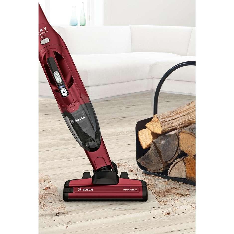 Bosch BBH2P14L Scopa elettrica senza fili 2in1 Autonomia 35 minuti colore Rosso