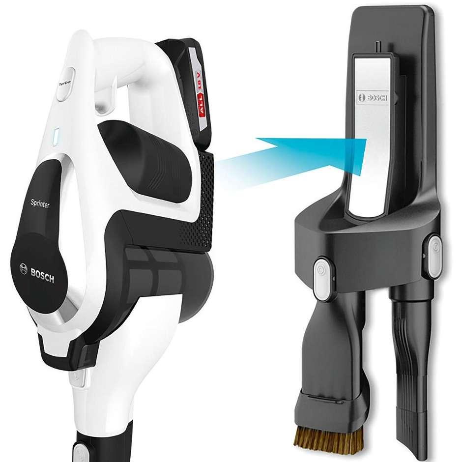Bosch BBS1224 scopa elettrica cordless ricaricabile capacità 0,4 litri autonomia max 1 ora colore bianco