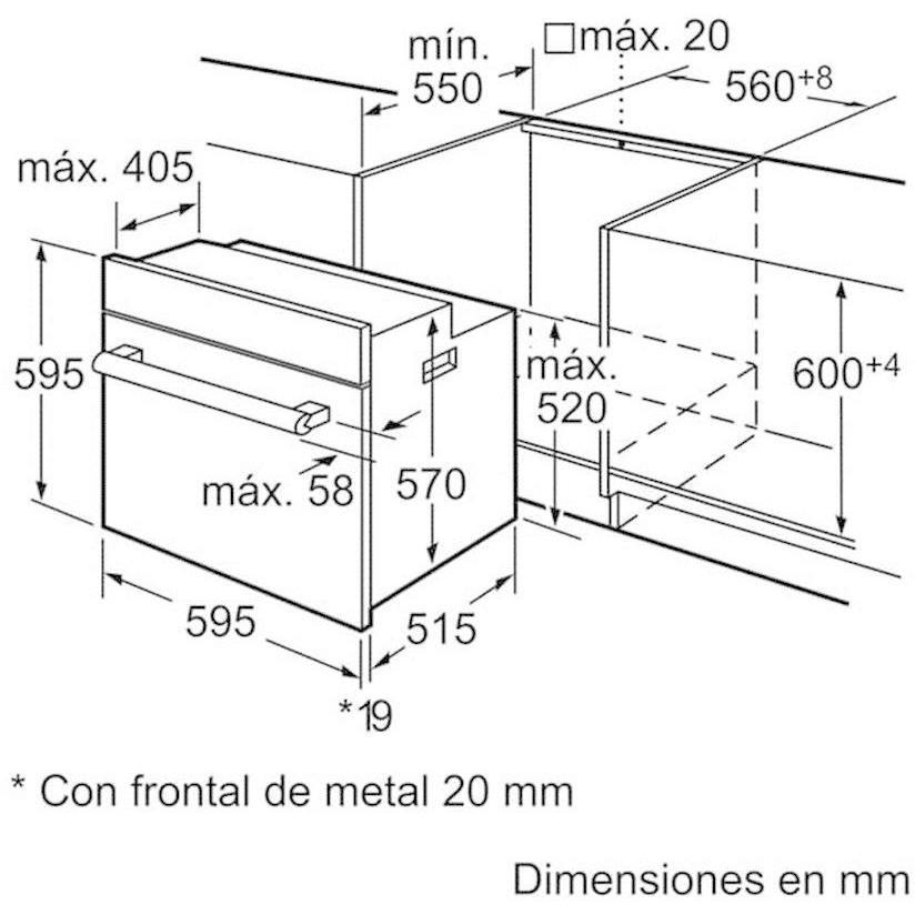 Bosch hba42r350e forno elettrico multifunzione da incasso 61 litri classe a colore inox forni - Forno da incasso dimensioni ...