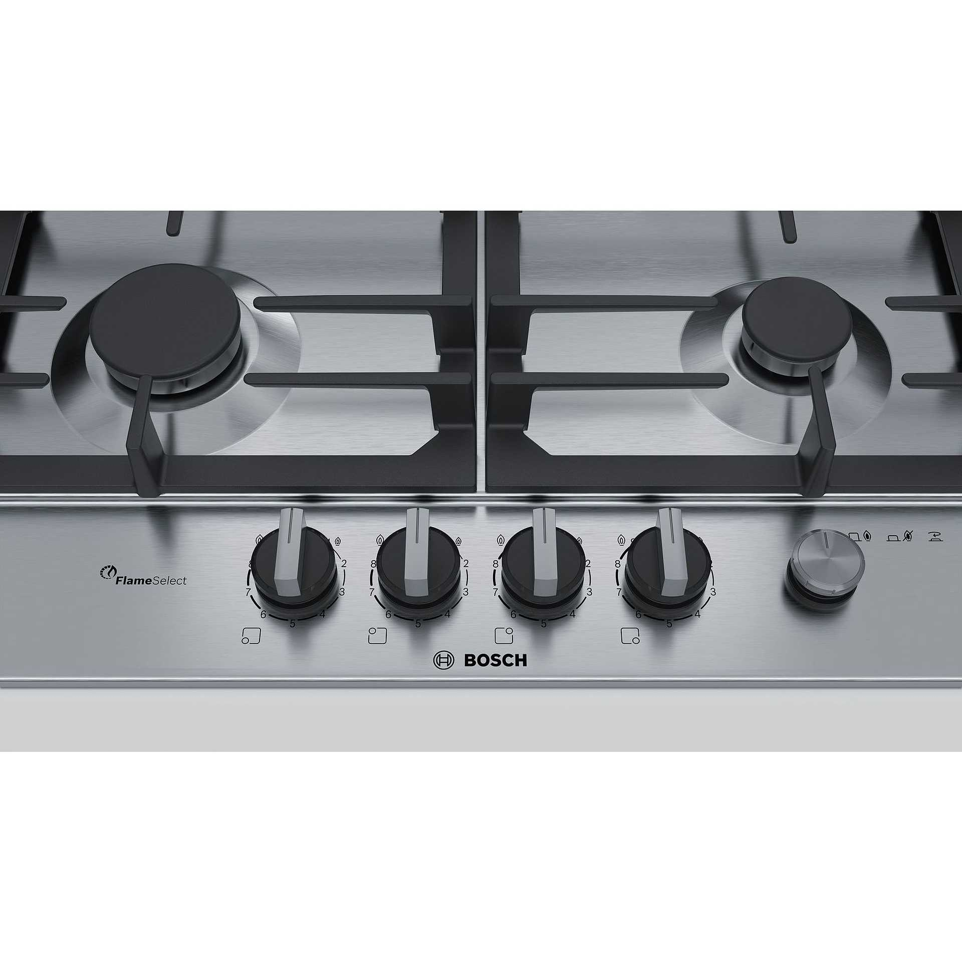 Bosch PCP6A5M90 piano cottura a gas 60 cm 4 fuochi colore inox ...