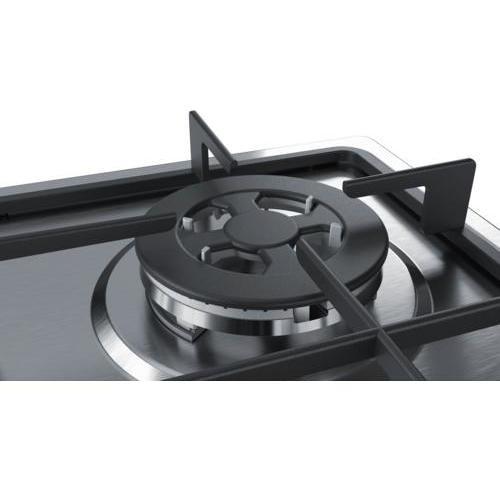 Bosch PGH6B5B60 piano cottura a gas 60 cm 4 fuochi griglie in ghisa ...