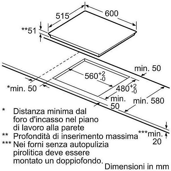 Bosch Pie611b10j Piano Cottura A Induzione 60 Cm 4 Zone Cottura