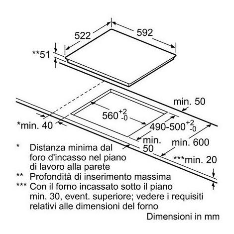 Bosch PUE611BF1J piano cottura a induzione 60 cm 4 zone cottura ...