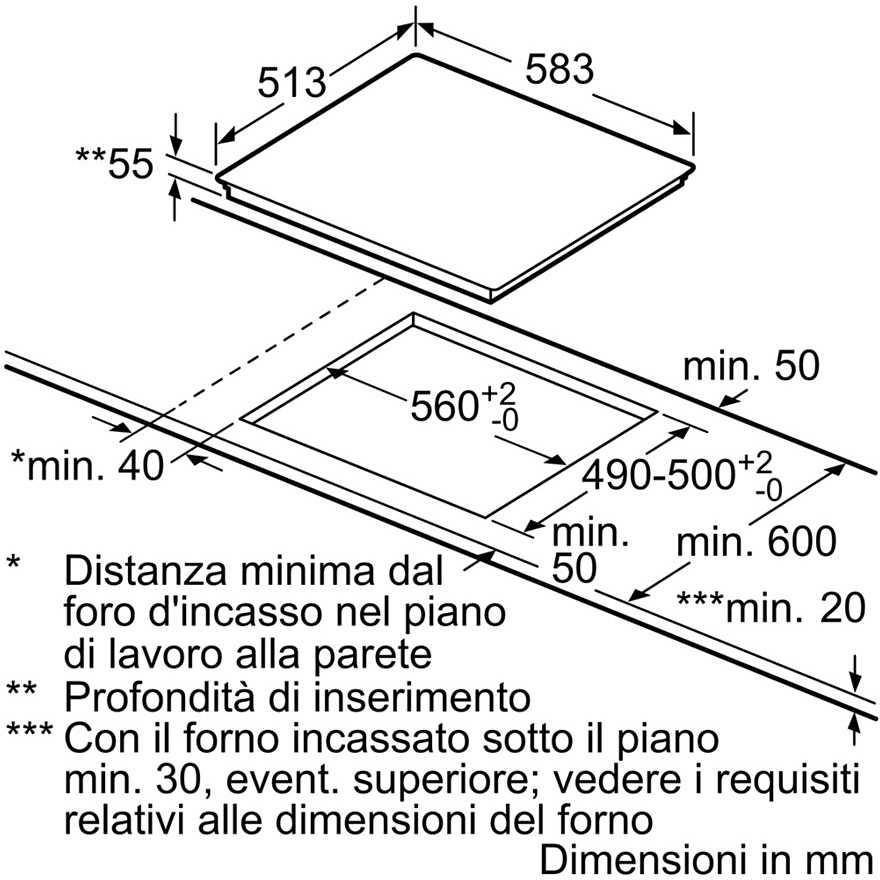 Bosch Pvs645fb1e Piano Cottura Induzione 60 Cm 4 Zone Cottura
