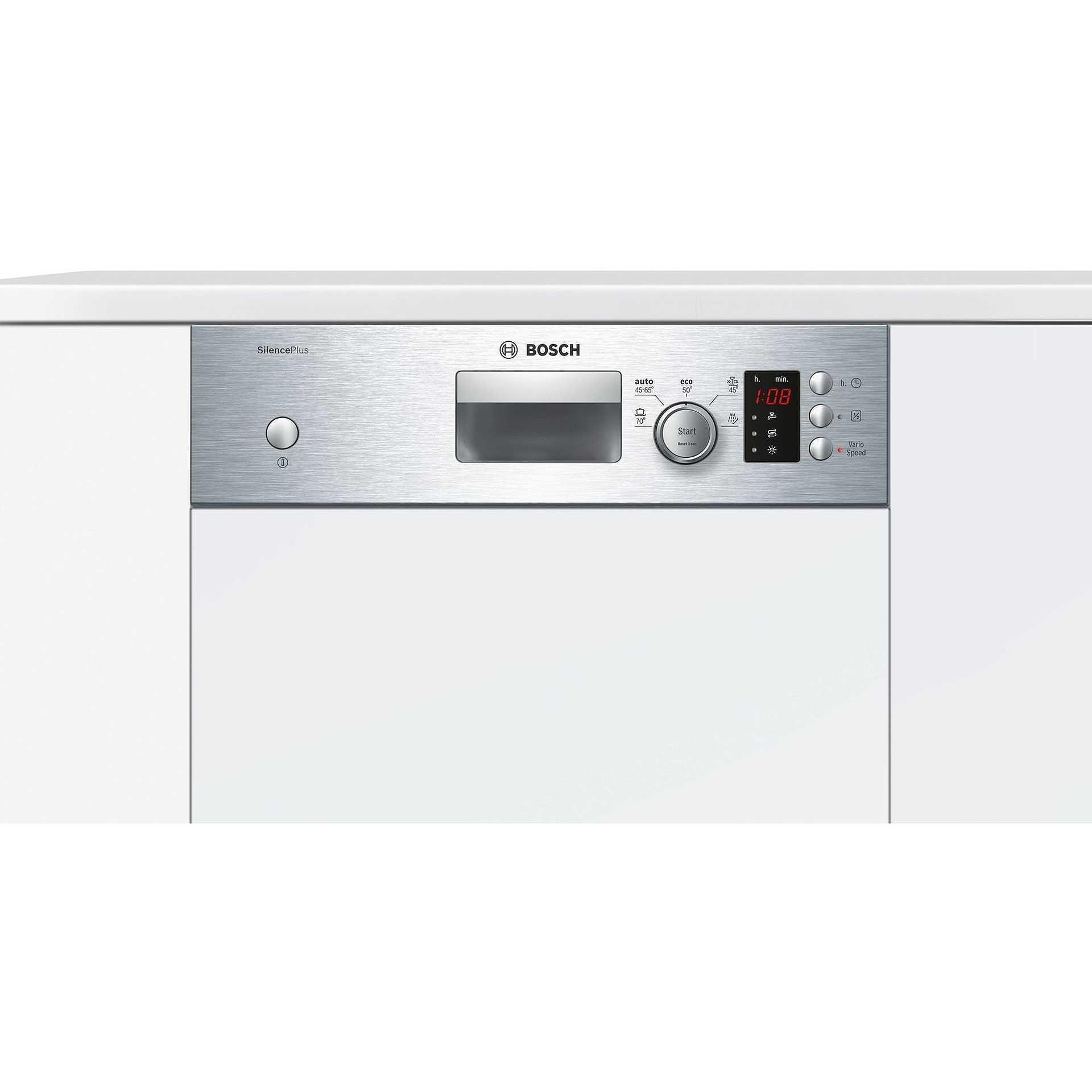 Bosch spi50e85eu lavastoviglie da semi incasso 45 cm 9 for Lavastoviglie 9 coperti