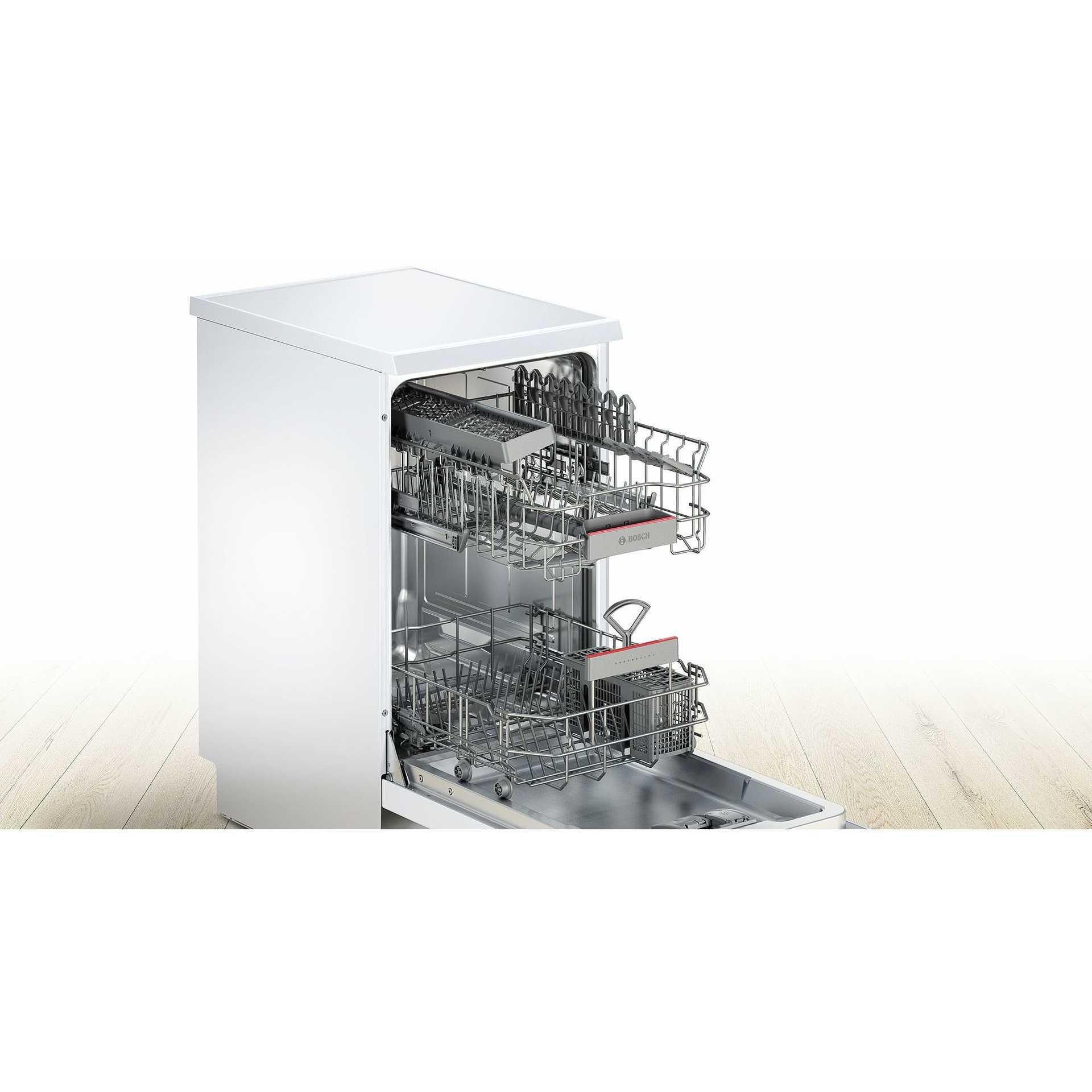 Bosch sps46iw07e lavastoviglie 45 cm 9 coperti 6 programmi for Lavastoviglie 9 coperti