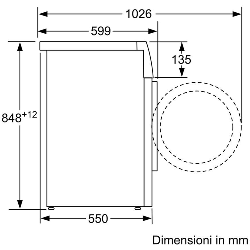 Bosch WAT20438II lavatrice carica frontale 8 Kg 1000 giri classe A+++ colore bianco
