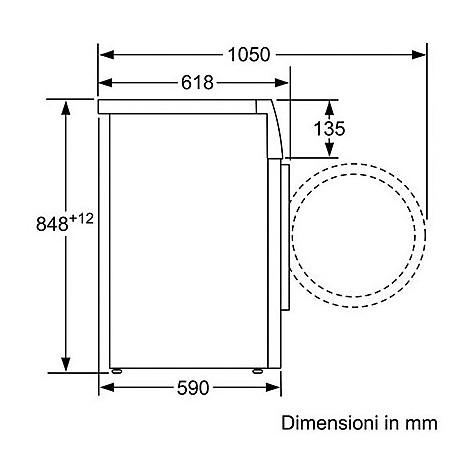 Bosch WAT24428IT Lavatrice carica frontale classe A+++ 8Kg 1200 giri/min