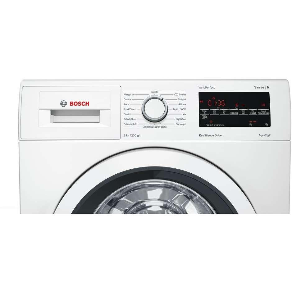 Bosch WAT24438IT lavatrice carica frontale 8 Kg 1200 giri classe A+++ colore bianco