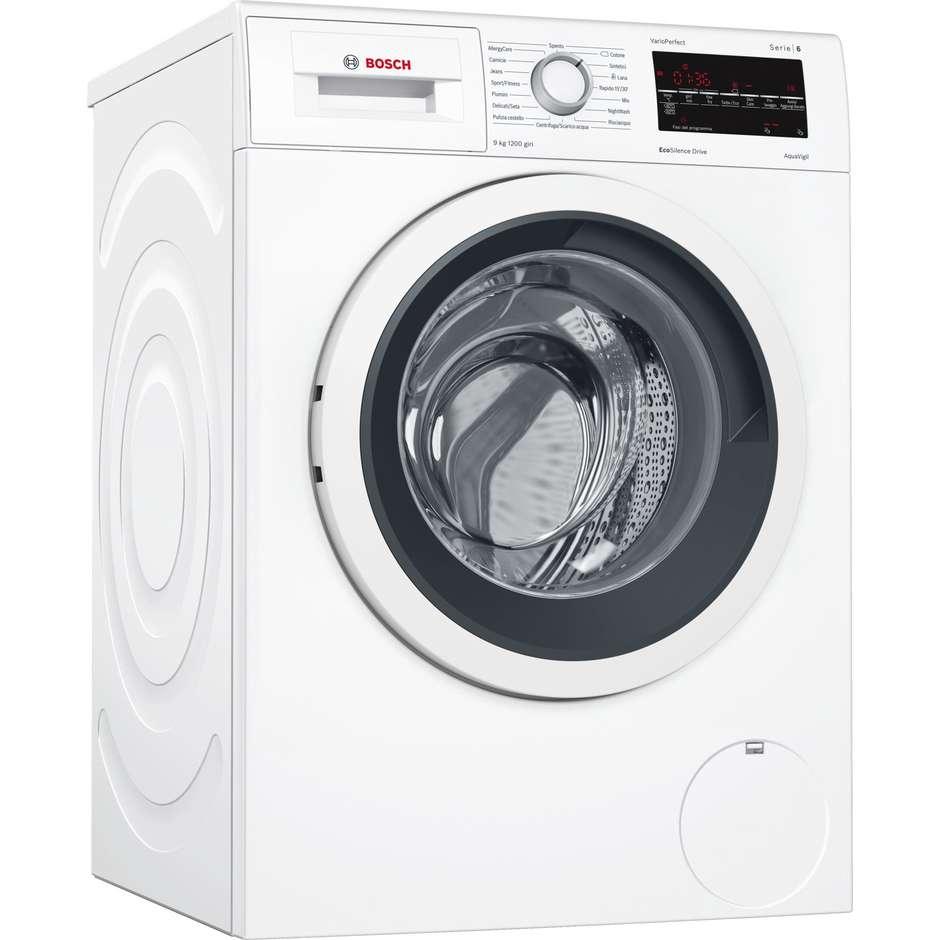Bosch WAT24439IT lavatrice carica frontale 9 Kg 1200 giri classe A+++ colore bianco