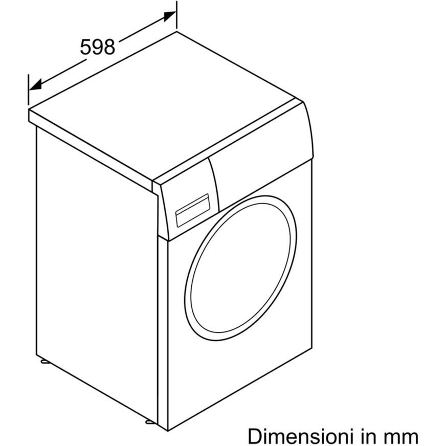 Bosch WAT28438II lavatrice carica frontale 8 Kg 1400 giri classe A+++ colore bianco