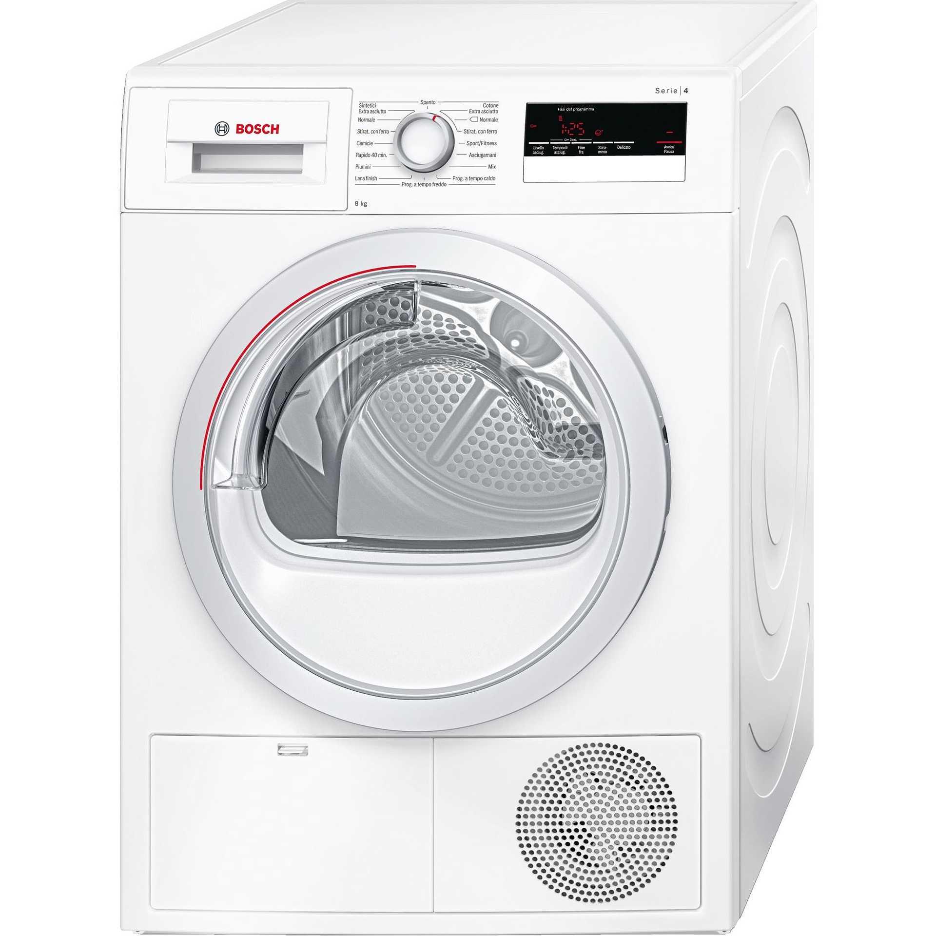 Bosch WTH85208IT Asciugabiancheria A Pompa Di Calore 8 Kg Classe A++ Colore  Bianco