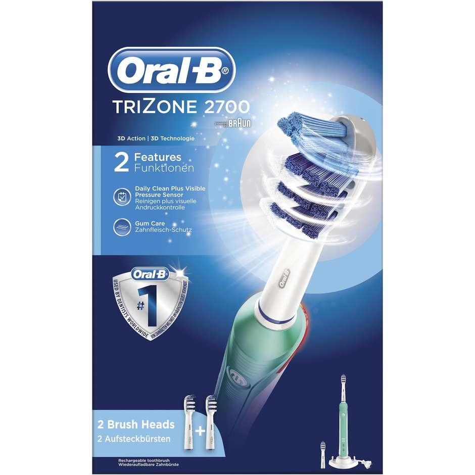 Braun 2700 TriZone Oral-B spazzolino elettrico + 2 testine