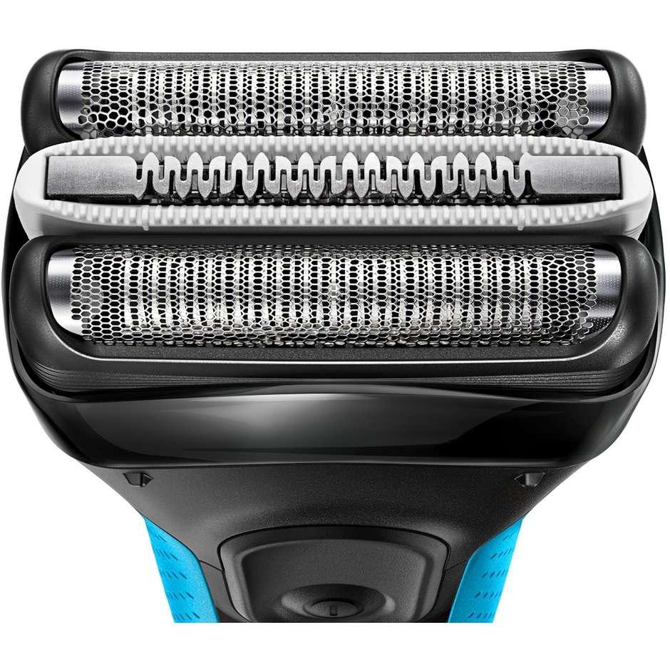 Braun 3010s ProSkin Series 3 rasoio elettrico ricaricabile Wet&Dry autonomia 45 min colore blu