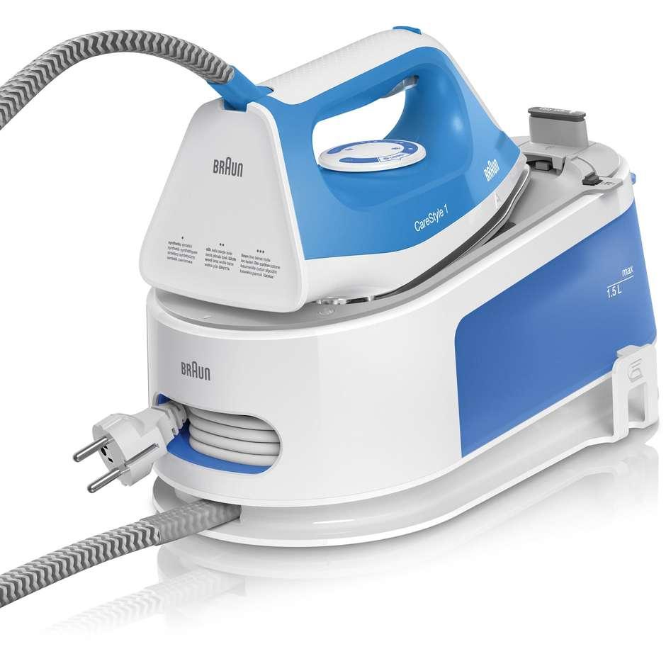 Braun CareStyle IS1012BL Ferro da stiro con caldaia Capacità 1,5 litri Potenza 2400 W colore bianco e blu
