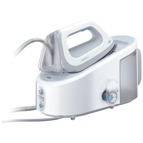 Braun IS3042WH CareStyle 3 Ferro da Stiro con Caldaia Potenza 2400 Watt Piastra Eloxal 3D Colore Bianco