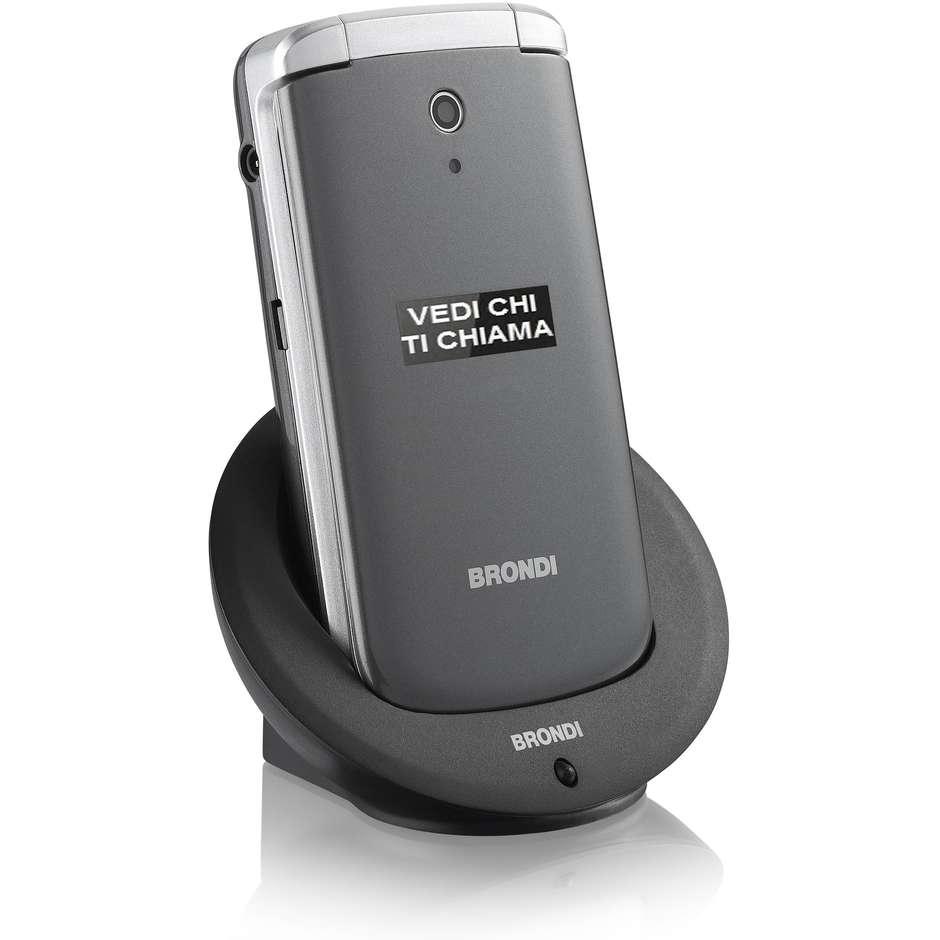 Brondi Amico Big 3G Dual Sim Telefono Cellulare colore Grigio, Argento