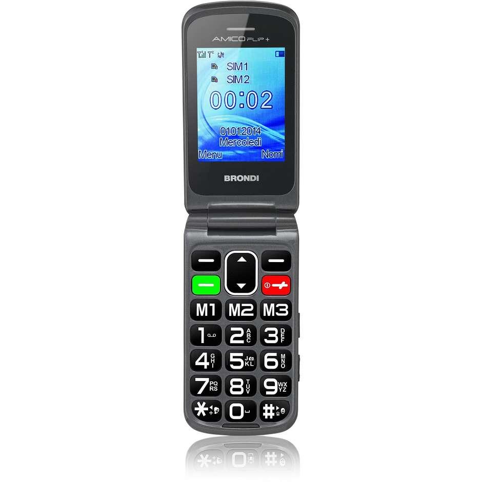 Brondi AMICO FLIP+ telefono cellulare dual sim colore Nero