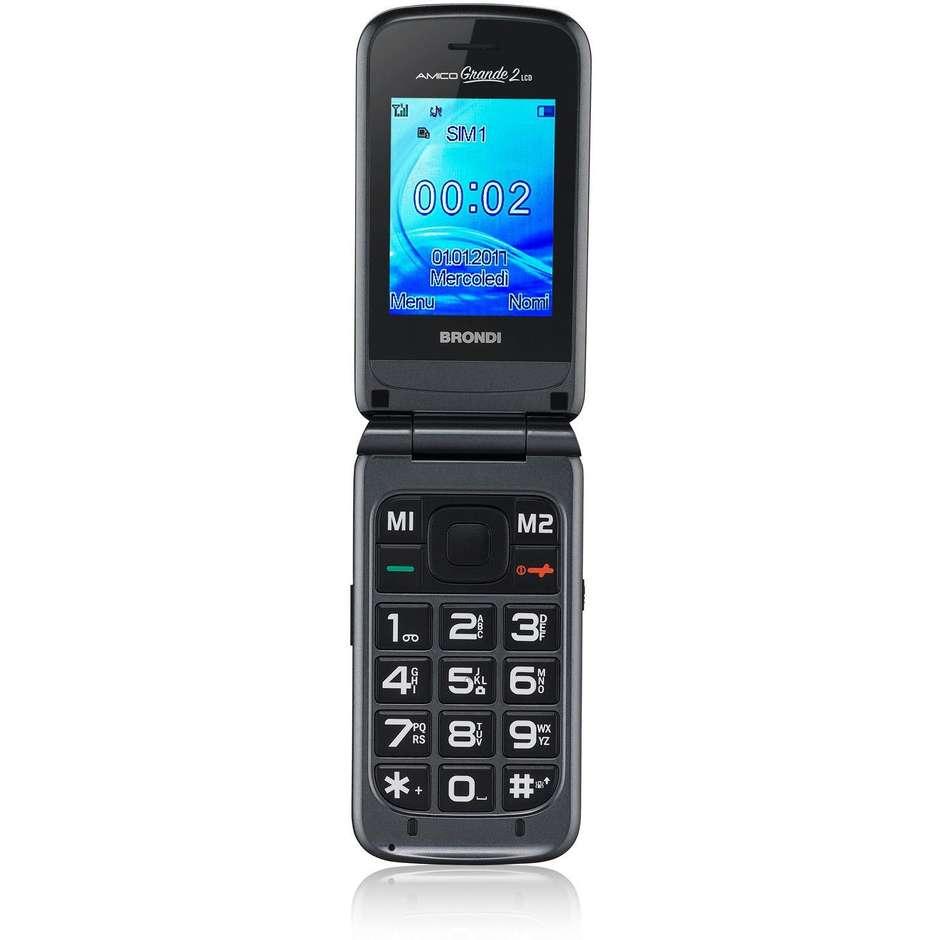 """Brondi Amico Grande 2 Lcd telefono cellulare 2.4"""" tasti grandi fotocamera 1.3 Mpx"""
