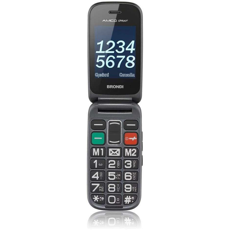 Brondi Amico Sprint Telefono Cellulare Display 2,4 pollici colore Nero