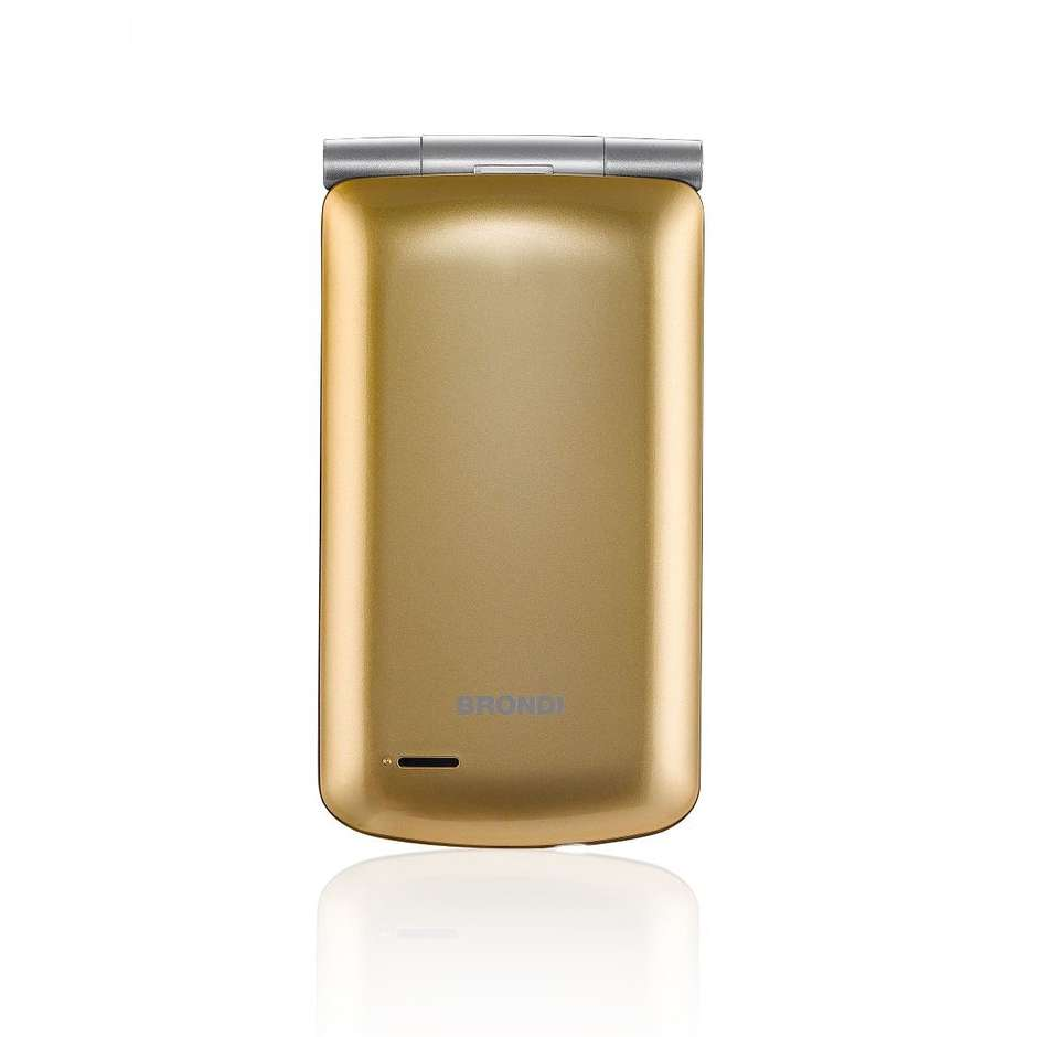 """Brondi Magnum 3 Telefono cellulare Dual Sim 3"""" con sportellino Flip attivo Fotocamera 1,3 MP colore Oro"""