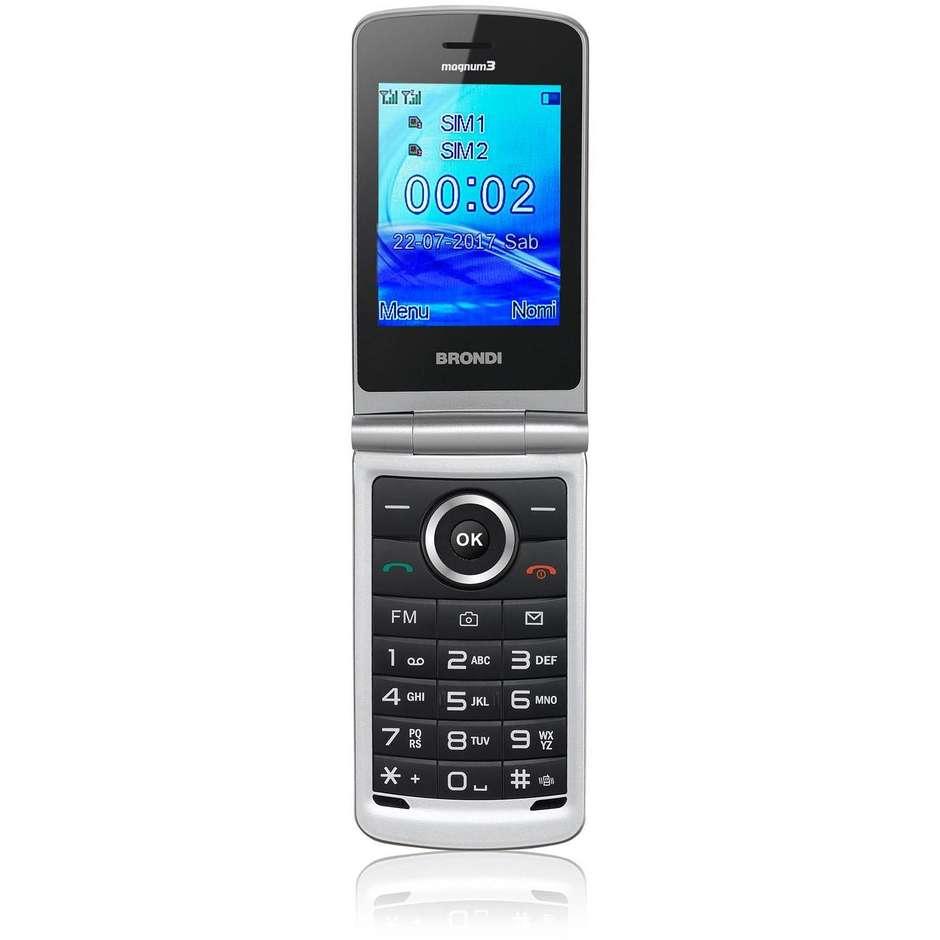 Brondi MAGNUM 3 Telefono cellulare Dual Sim 3 pollici flip attivo fotocamera 1,3 MP colore Nero