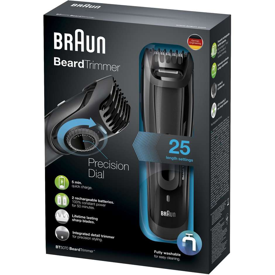 bt5070 braun regolabarba beard trimmer