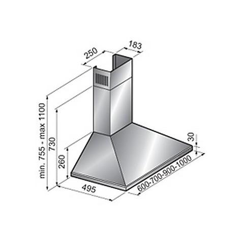 c1 60 cm inox tecnowind cappa