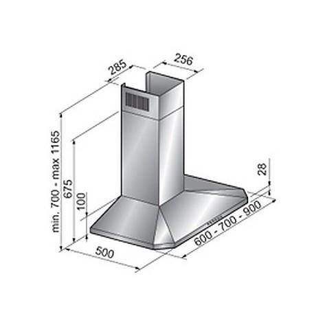 c3 60 cm inox tecnowind cappa