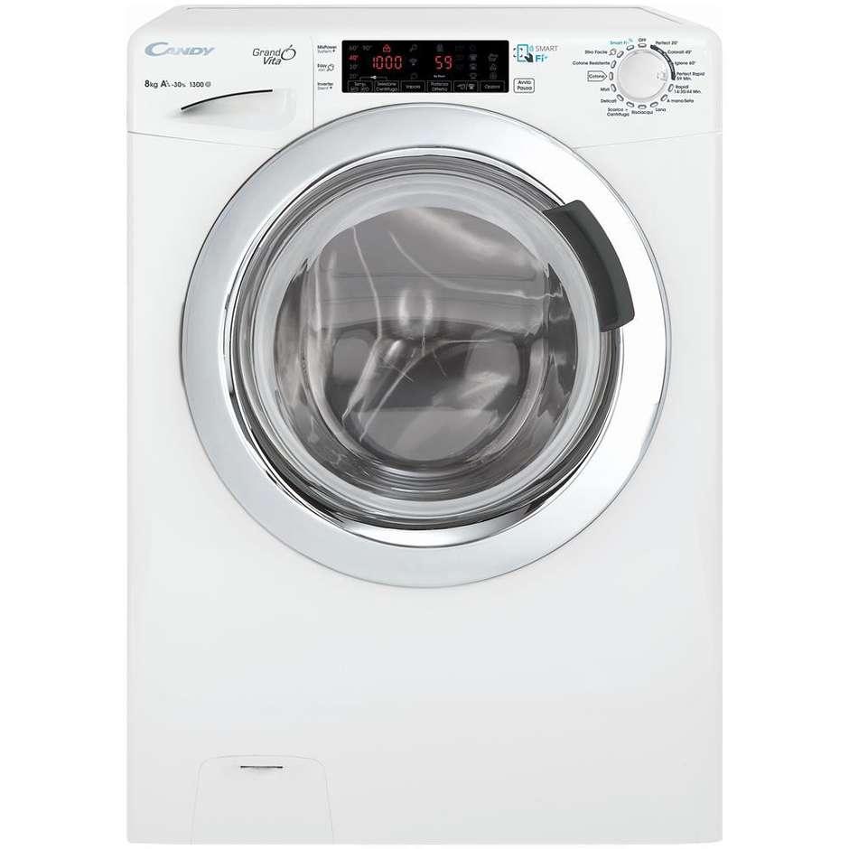 Candy GVF4138TWHC/2-01 lavatrice snella 44 cm 8 Kg 1300 giri classe A+++ inverter colore bianco