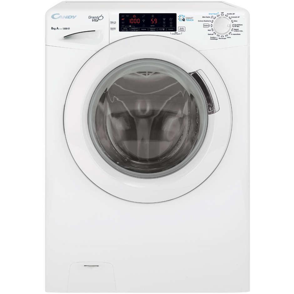 Candy GVS4 4138TH3/2-01 lavatrice snella 44 cm 8 Kg 1300 giri classe A+++ inverter colore bianco