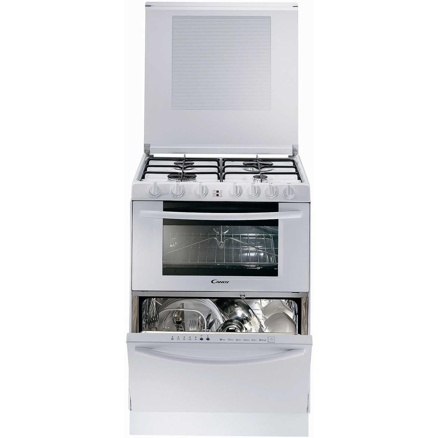 Candy TRIO 9501/1 W Cucina 60x60 4 Fuochi A Gas Forno Elettrico 41 Litri