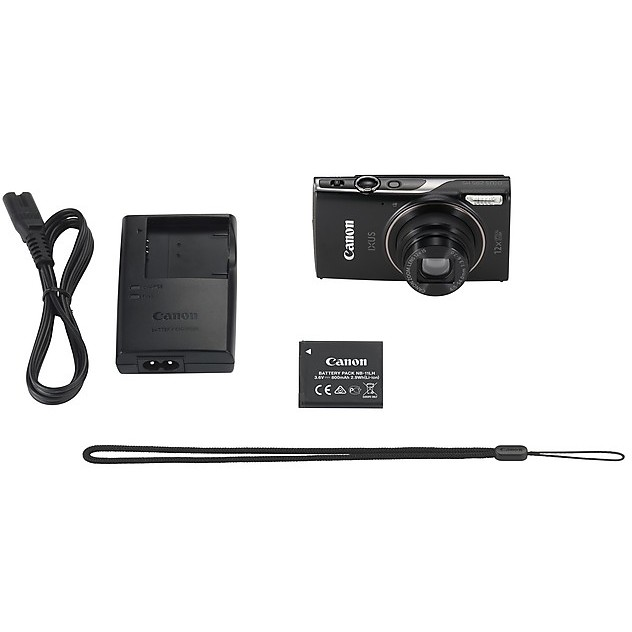 """Canon IXUS 285 HS fotocamera digitale compatta 20 Mpx zoom ottico 12x display 3"""" nero"""