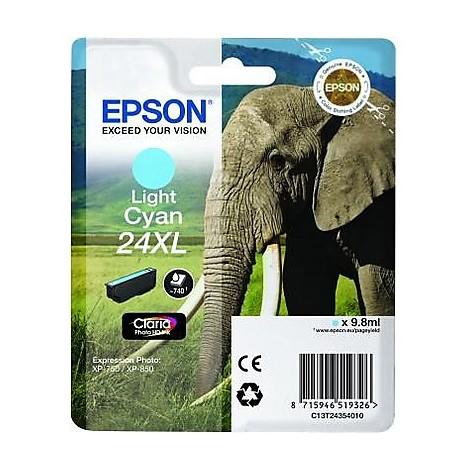 cartuccia ciano-chiaro 24xl elefan