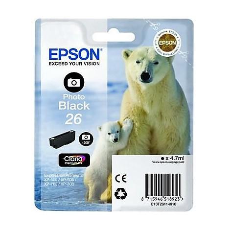 cartuccia nero-foto orso polare