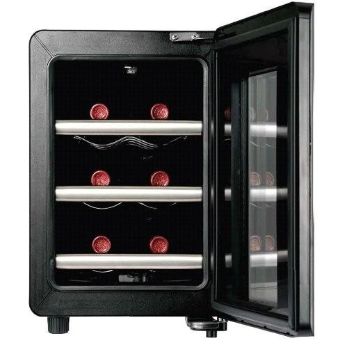 Caso 606 Wine Case 6 cantinetta per vino 6 bottiglie classe A nero, inox