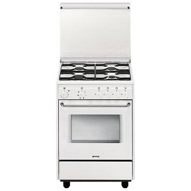 cb-51sv smeg cucina 4 fuochi a gas forno elettrico 6 funzioni ...