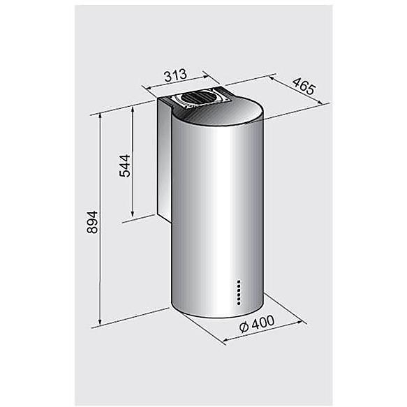 cilindro 40 cm cappa tecnowind