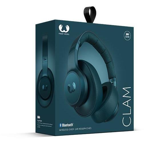 clam wireless over-ear petrolblu