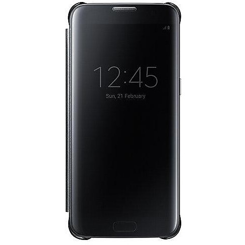 clear view cover black s7 edge