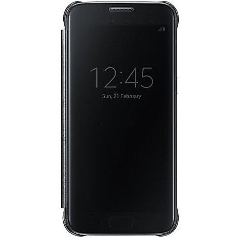 clear view cover black s7 flat