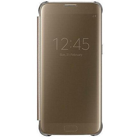 clear view cover gold s7 edge