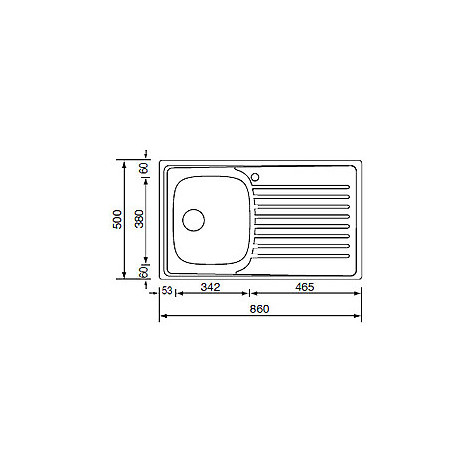 CM 010493DCSSX IX Siros lavello 86x50 1 vasca con gocciolatoio a sinistra inox antigraffio