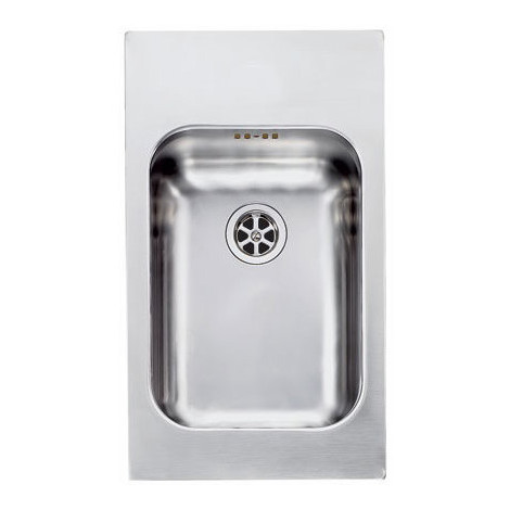 CM 011932XCSSX Cinzia lavello 29x50 1 vasca senza gocciolatoio inox satinato
