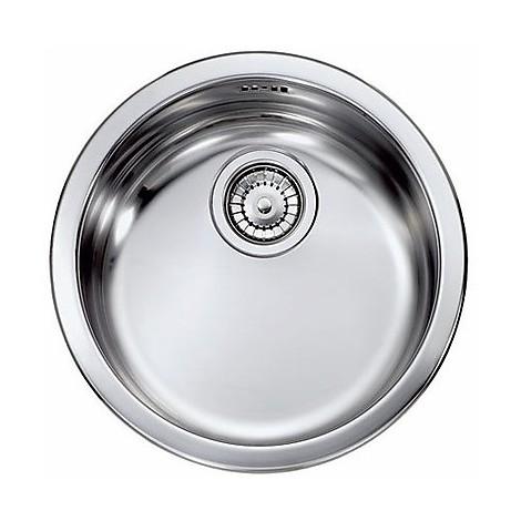 Cm cinzia lavello rotondo con sifone 1 via 45 cm satinato acciaio inox cappe e lavelli lavelli - Lavello cucina rotondo ...