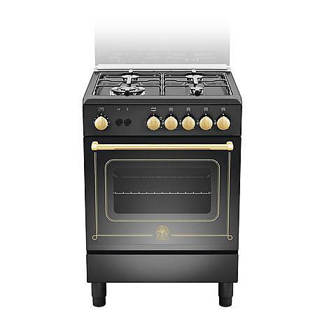 cn-64071dne la germania cucina 60 cm 4 fuochi 1 forno a gas nera