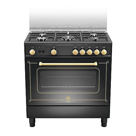 cn-85c71dne la germania cucina 80 cm 5 fuochi 1 forno a gas nera