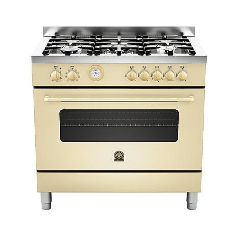 cn-95c71bcr la germania cucina 90 cm 5 fuochi 1 forno a gas crema
