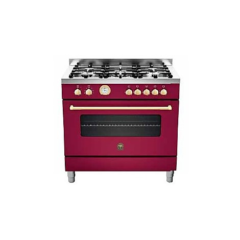 cn-95c71bvi la germania cucina 90 cm 5 fuochi 1 forno a gas vino